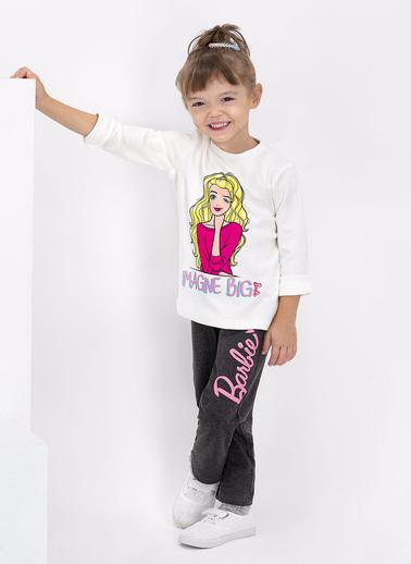 Barbie Kız Çocuk Lisanslı Pijama Takım L1066-C Antrasit